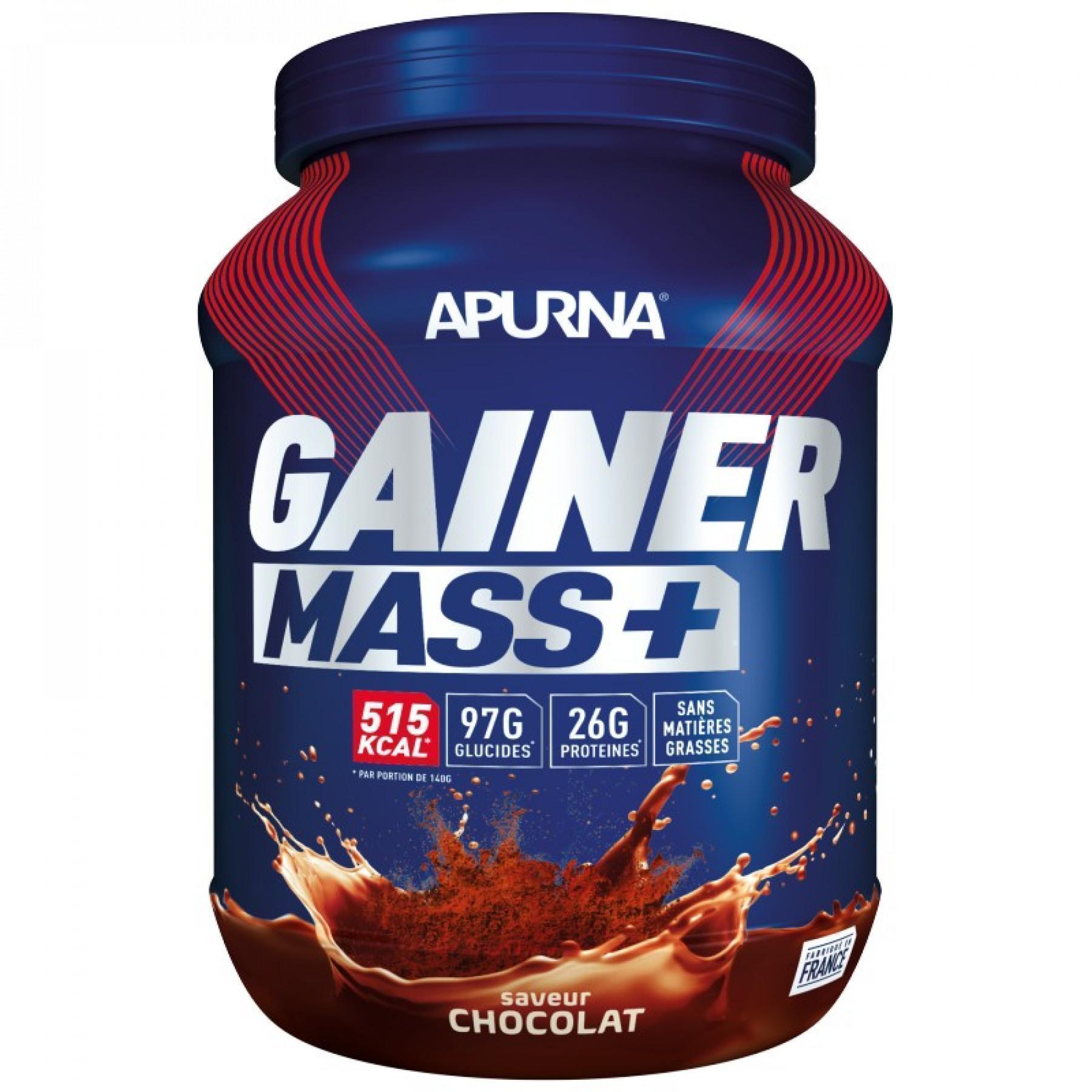 Pot Apurna Gainer Mass Plus - Chocolat - 1.1 Kg