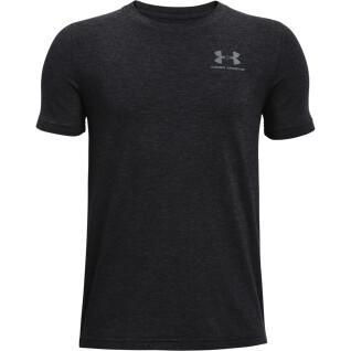 Jongens-T-shirt Under Armour à manches courtes en coton
