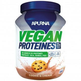 Vegan proteïne Apurna Cookie and cream - Pot 600g