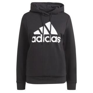 Dames sweatshirt met capuchon adidas Essentials Logo Fleece