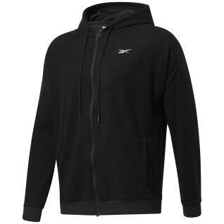 Hooded sweatshirt Reebok Workout Ready Fleece Zip-Up