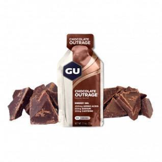 Lot van 24 Gels Gu Energy intense chocolade
