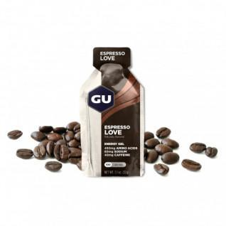 Pakket van 24 Cafeïnehoudende Gels Gu Energy Espresso