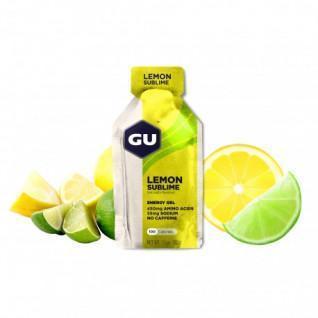 Set van 24 gels Gu Energy citron intense sans caféine