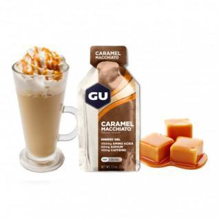 Partij van 24 Gels Gu Energy caramel macchiato caffeinated