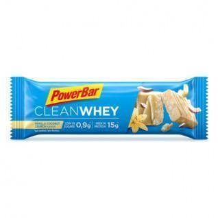 Set van 18 repen PowerBar Clean Whey - Vanilla Coconut Crunch