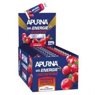 Pakket van 25 Apurna Energy Cafeïne Cranberry Gels - 35g